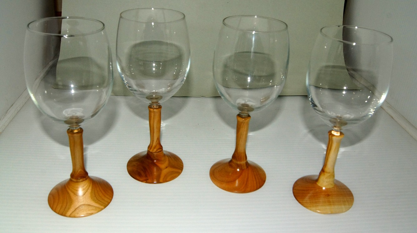 Red Wine Glasses Rocky Roost Wood Turning Syd Sellers